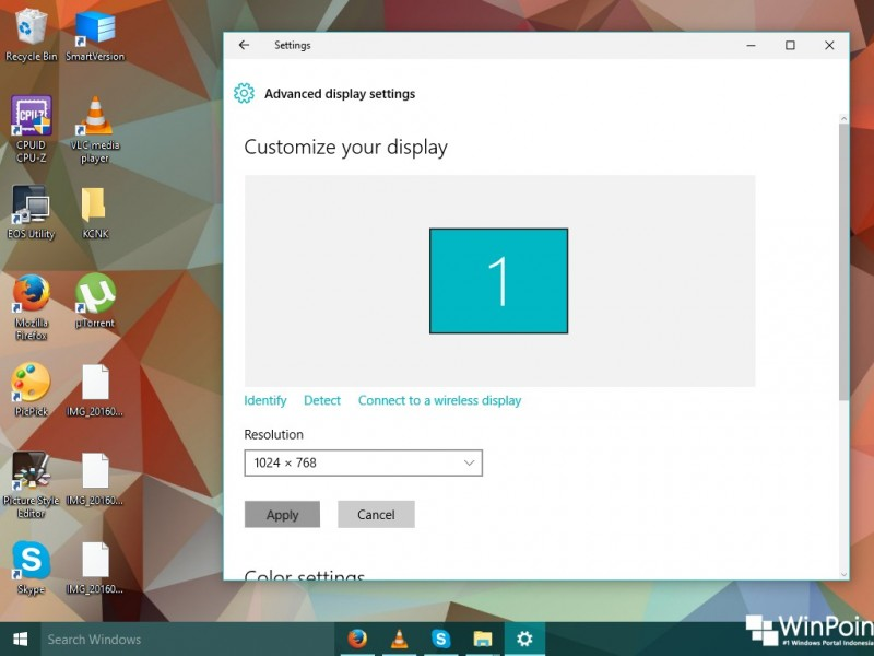 cara mengganti resolusi layar di windows 10 (1)