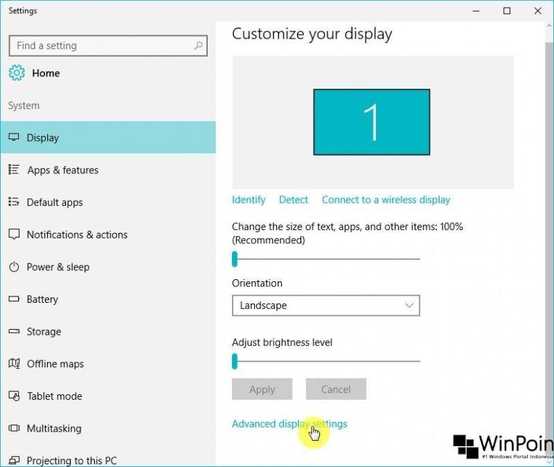 cara mengganti resolusi layar di windows 10 (3)