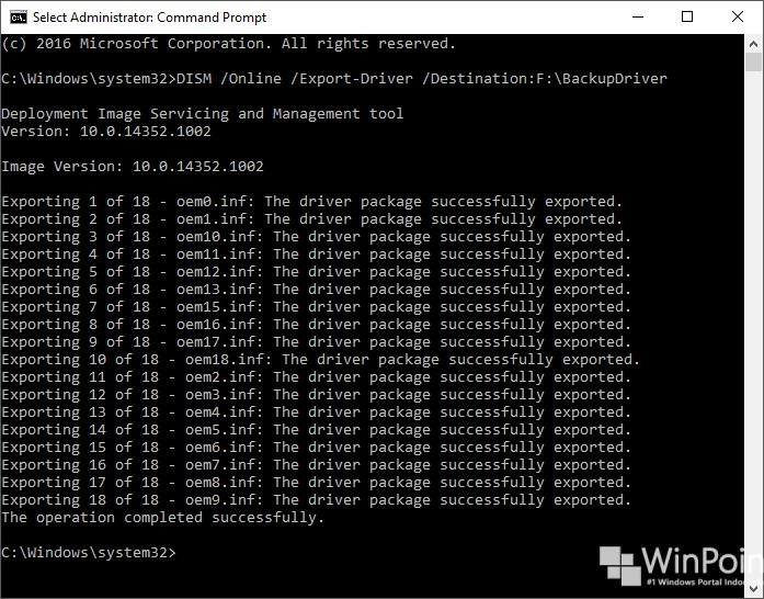 cara mudah backup driver tanpa software tambahan (2)