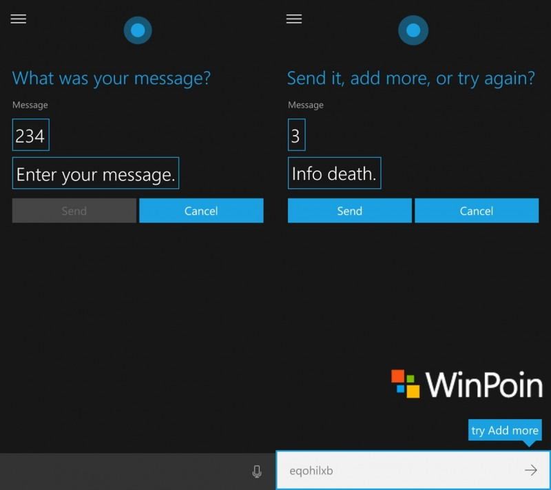 cortana-read messages(3)