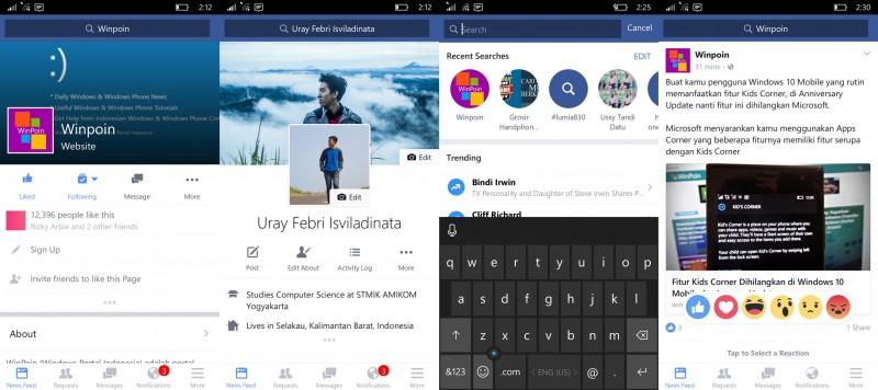 facebook new uwp