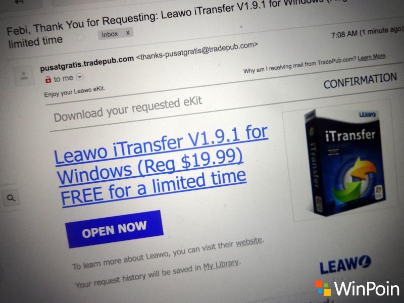 Giveaway: Dapatkan Lisensi Software iTransfer untuk Windows (Senilai 267 ribu, Gratis!)