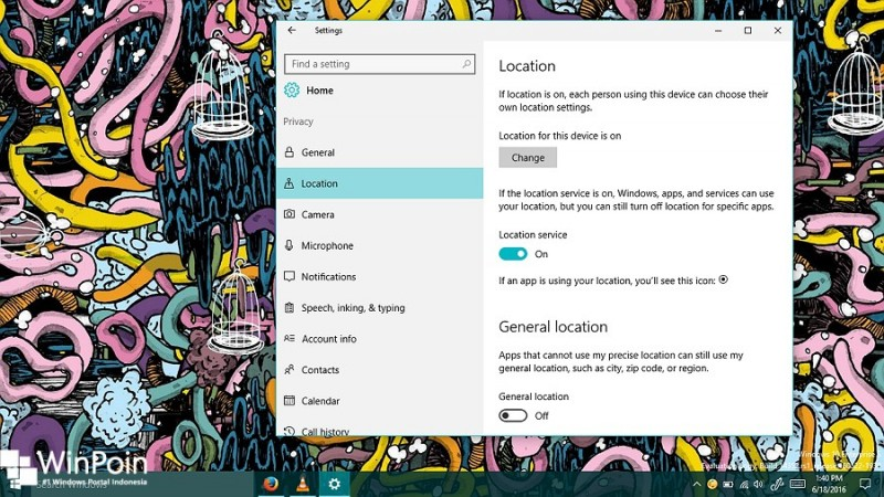 mengkonfigurasi fitur Location Service di windows 10 (1)