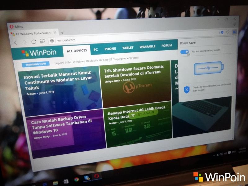 Opera 38 Final Dirilis: Kini Laptop Lebih Hemat Baterai dan Lebih Dingin