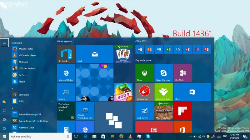 review windows 10 build 14361 (2)