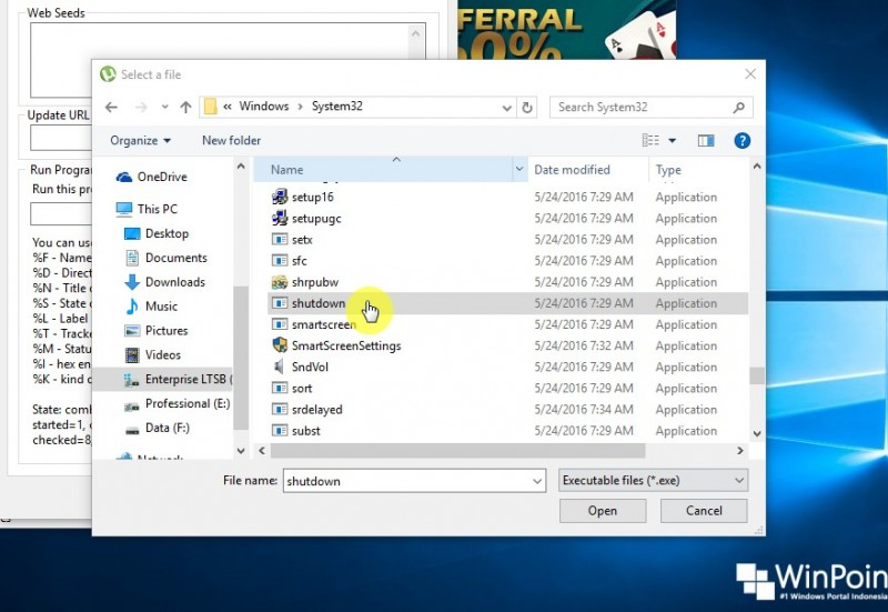 shutdown otomatis pada utorrent (3)