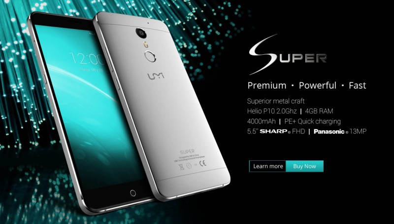 Inilah Flagship UMi Super 4G Android, Bakal Support Windows 10 Mobile Juga?