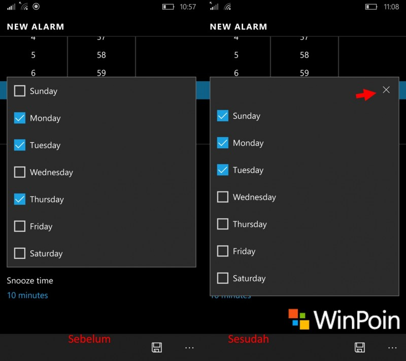 windows alarms & clock-close icon