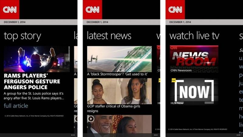 CNN Windows Phone Apps