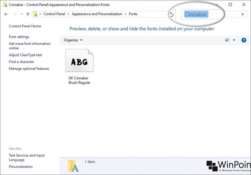 Cara Memasang Fonts di Windows 10 (5)
