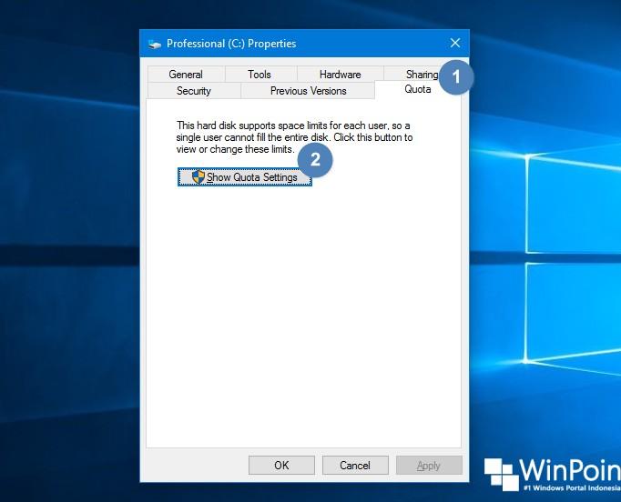 Cara Memasang Kuota pada Partisi di Windows 10 (2)