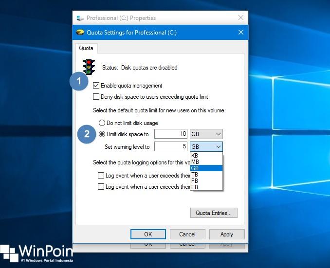 Cara Memasang Kuota pada Partisi di Windows 10 (3)