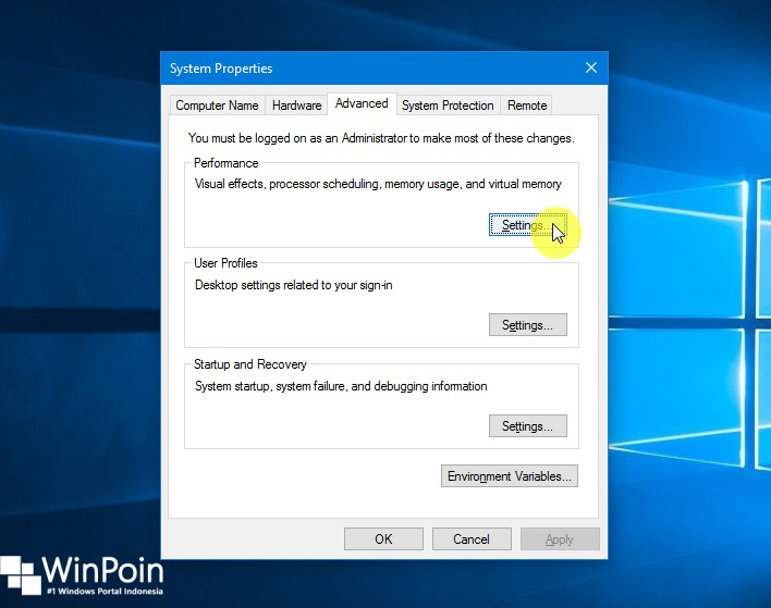 Cara Mematikan Visual Efek di Windows 10 (3)