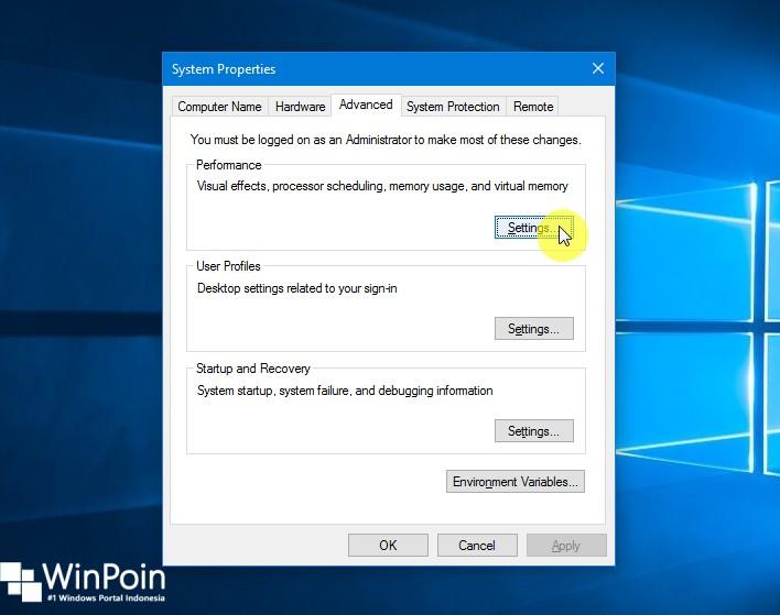 Cara Mematikan Visual Efek di Windows 10 (3)
