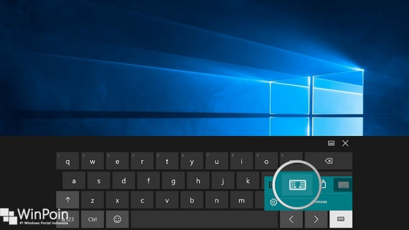 Cara Memecah Tampilan On-Screen Keyboard di Windows 10 (2)