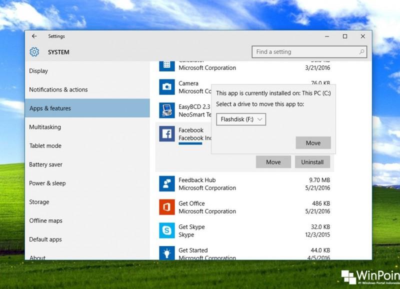 Cara Memindahkan Aplikasi Windows 10 ke Memori Eksternal (3)