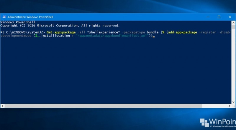 Cara Memperbaiki Start Menu Windows 10 dengan PowerShell