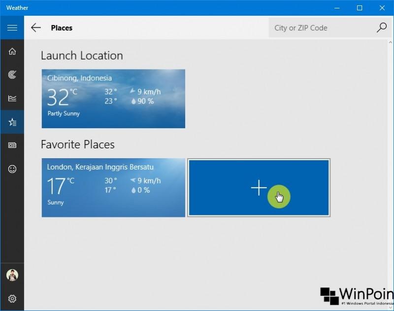 Cara Menambah Lokasi pada App Weather di Windows 10 (3)