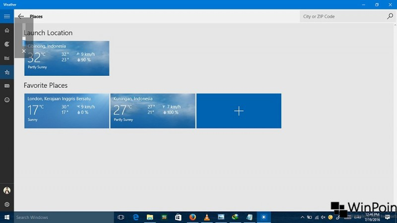 Cara Menambah Lokasi pada App Weather di Windows 10 (5)
