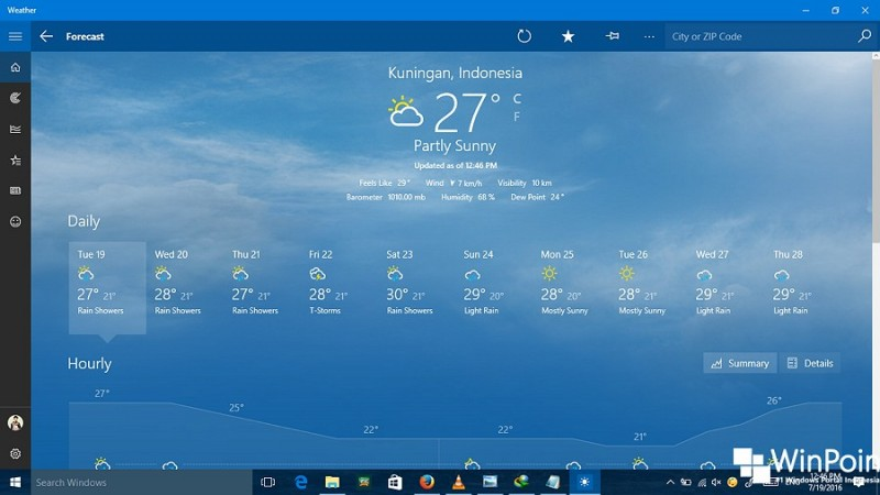 Cara Menambah Lokasi pada App Weather di Windows 10 (6)