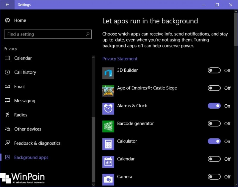 Cara Mencegah Modern Apps Berjalan Secara Background di Windows 10