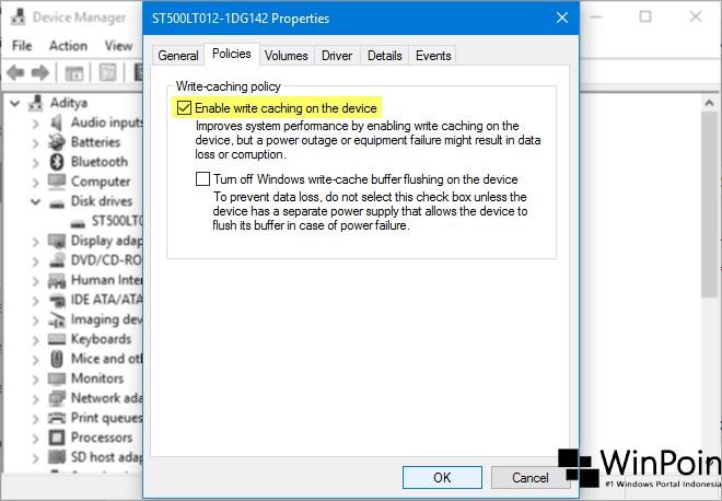 Cara Mengaktifkan Disk Write Caching di Windows 10 (3)