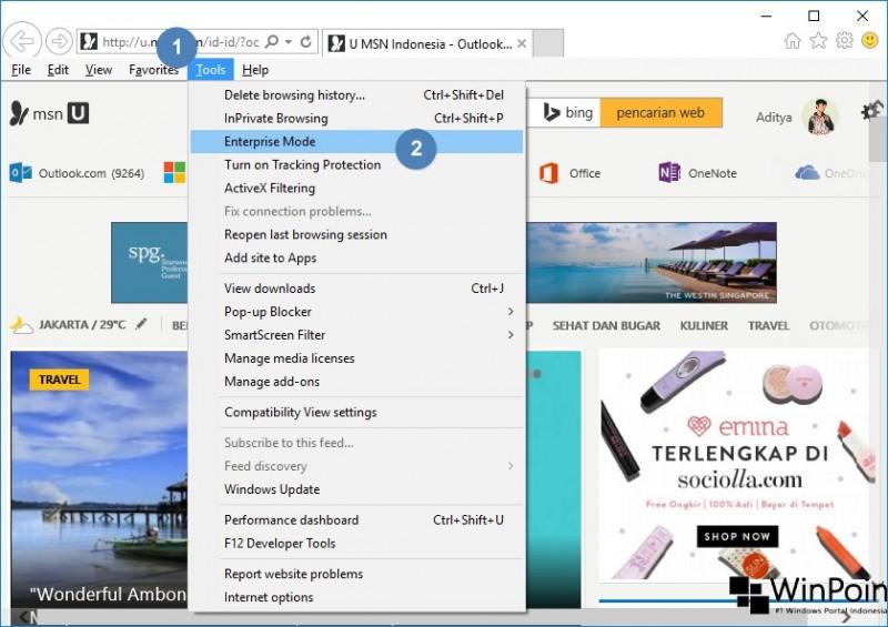 Cara Mengaktifkan Enterprise Mode di Internet Explorer Windows 10 (1)