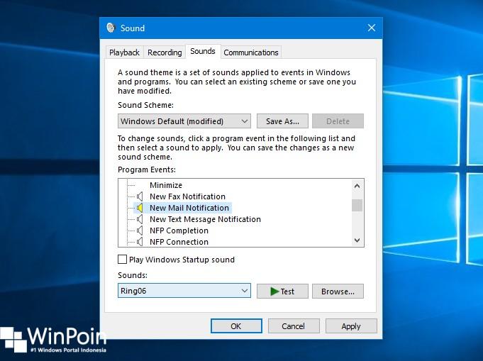 Cara Mengaktifkan Suara pada Notifikasi Mail di Windows 10 (3)