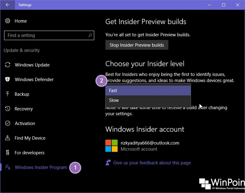 Cara Mengganti Insider Level di Windows 10