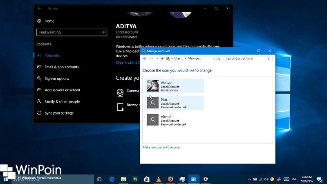 Cara Mengganti Nama Local Account Di Windows 10 Winpoin