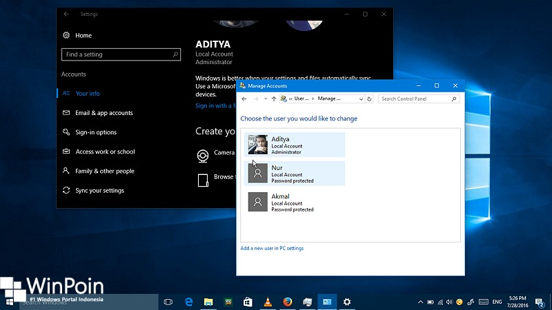 Cara Mengganti Nama Local Account di Windows 10 (1)