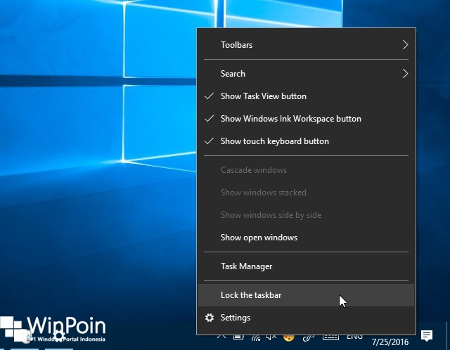 Cara Mengganti Posisi Taskbar di Windows 10 (1)