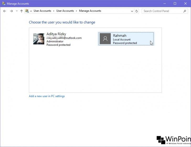 Cara Menghapus User di Windows 10 (3)