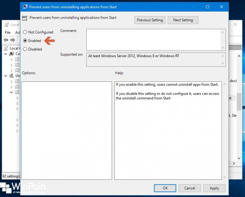 Cara Menghilangkan Opsi Uninstall Apps pada Start Menu Windows 10 (3)