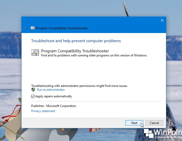 Cara Menjalankan Program Compatibility Troubleshooter di Windows 10 (3)
