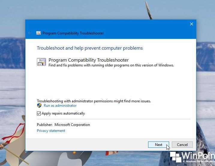 Cara Menjalankan Program Compatibility Troubleshooter di Windows 10 (3)