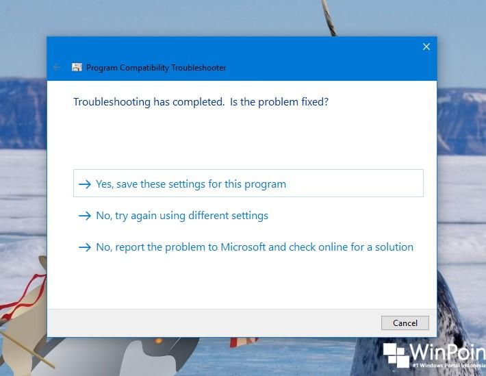 Cara Menjalankan Program Compatibility Troubleshooter di Windows 10 (9)