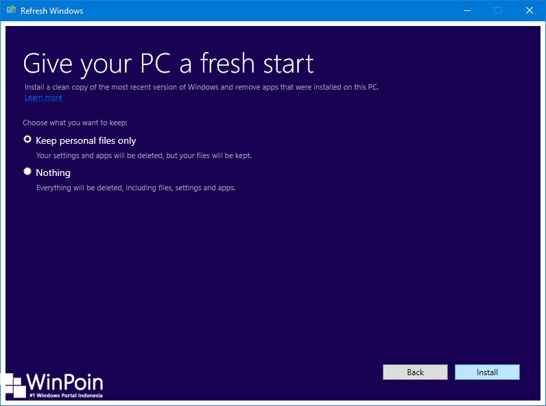 Cara Refresh Windows 10 dengan Tool Refresh Windows (2)
