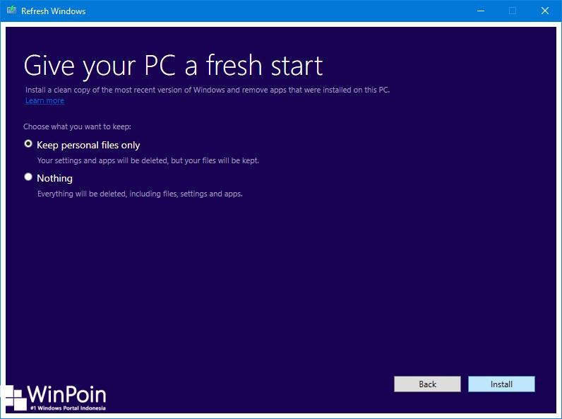 Cara Refresh Windows 10 dengan Tool Refresh Windows (2)