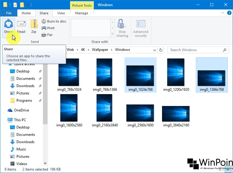 Cara Sharing Konten ke Social Media dari Windows 10 (1)