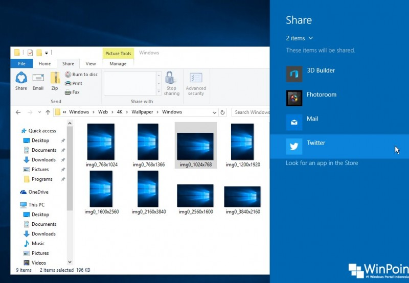 Cara Sharing Konten ke Social Media dari Windows 10 (2)