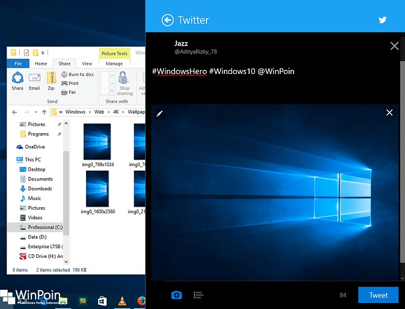 Cara Sharing Konten ke Social Media dari Windows 10 (3)