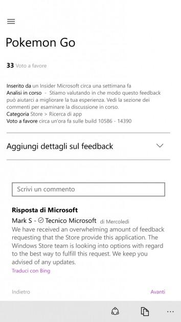 Microsoft: Kami akan Berusaha Menghadirkan Pokemon GO ke Windows Store