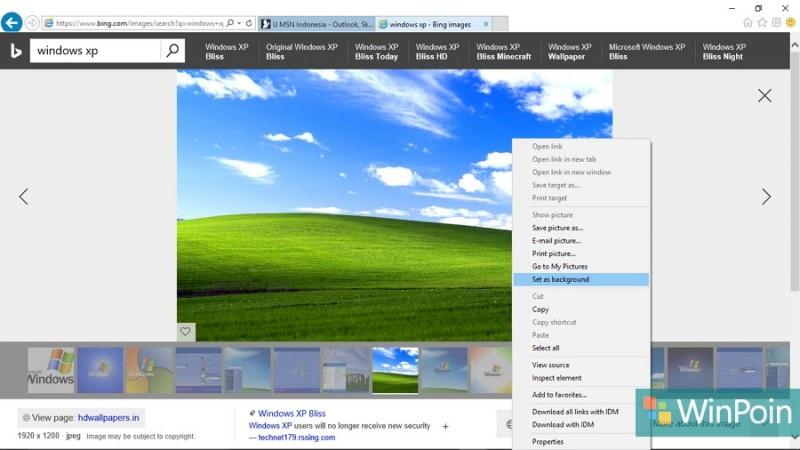 cara mengganti background desktop untuk