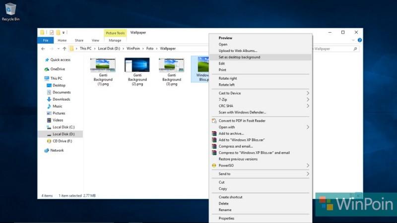 Cara Mengganti Background Desktop Untuk Windows 10 Yang Belum Teraktivasi Winpoin
