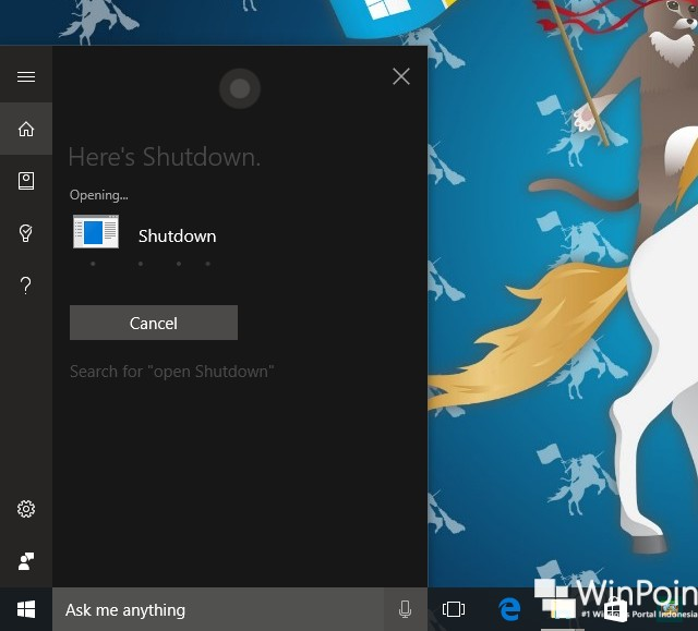 Hands Off Cara Shutdown, Restart, Sign out, dan Hibernate dengan Cortana (5)