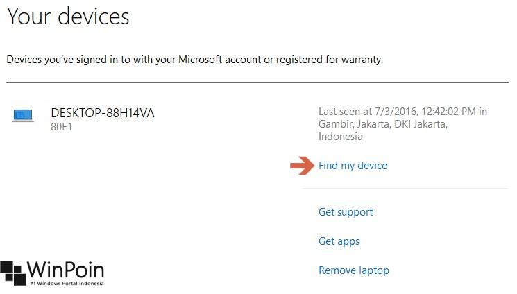 Cara Mengaktifkan Fitur Find My Device di Windows 10