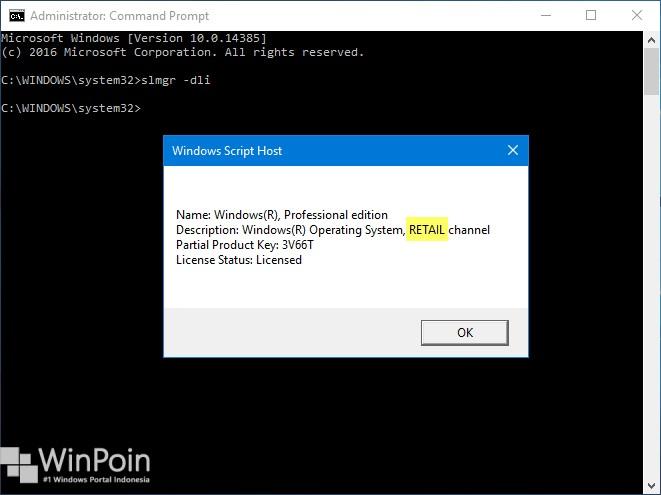 Kenali Jenis Lisensi OEM, Retail dan Volume di Windows 10