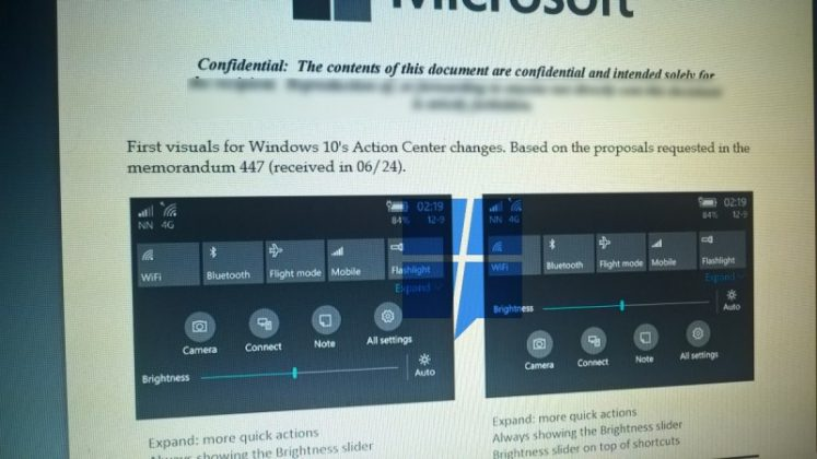 Microsoft Berencana Mendesain Ulang Action Center Windows 10 Mobile