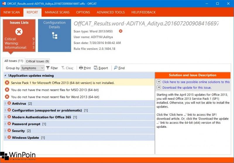 Office Configuration Analyzer Tool Troubleshooting Masalah Pada MS Office (6)